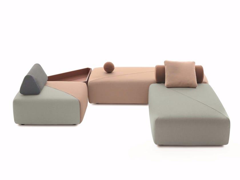 Corner modular garden sofa BRIXX | Modular garden sofa by DEDON