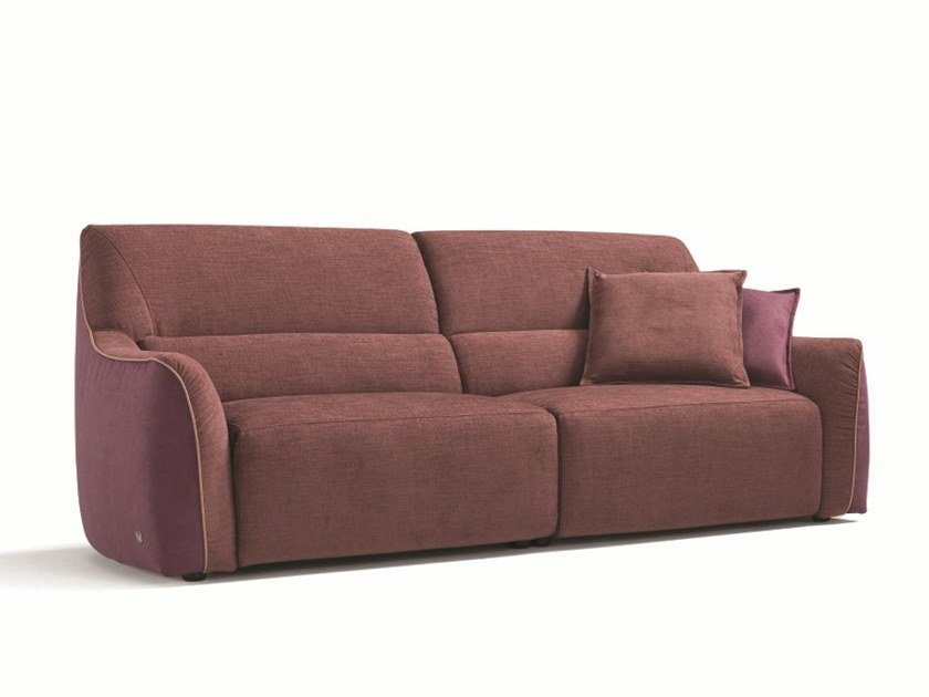 Recliner relaxing 3 seater fabric sofa PUFFY | Sofa by Egoitaliano