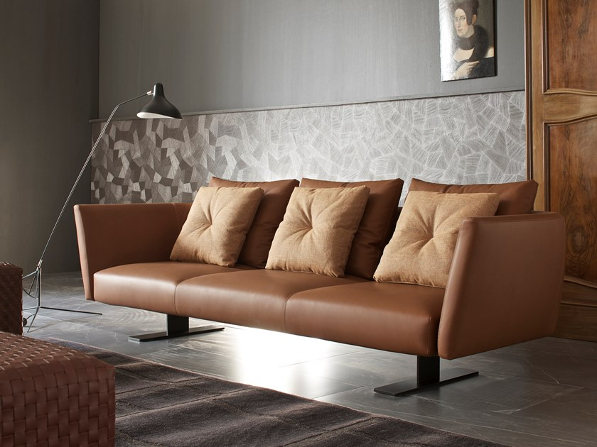 Upholstered leather sofa SAINT BARTH | Sofa by ESTEL GROUP
