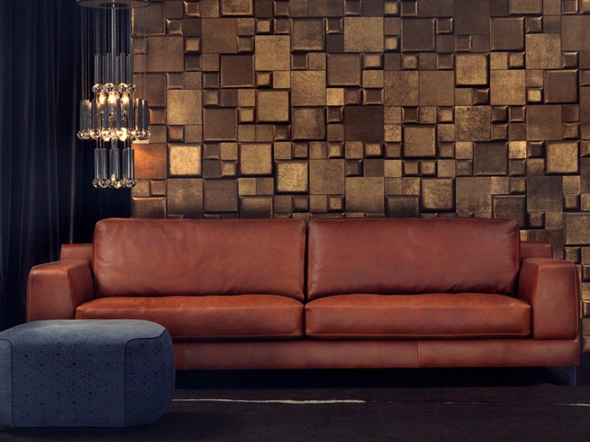 Leather sofa BEN | Sofa by Borzalino