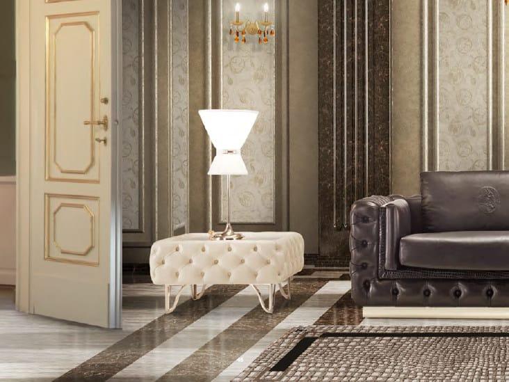 Tavolino basso quadrato in pelle da salotto ELISA   Tavolino by Formitalia