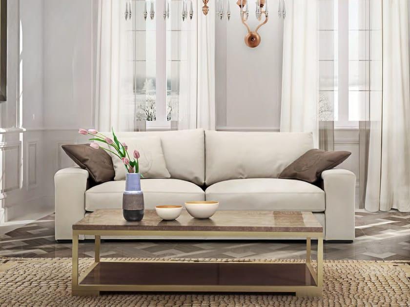 Upholstered 3 seater Nabuk sofa STELLA | Sofa by Formitalia