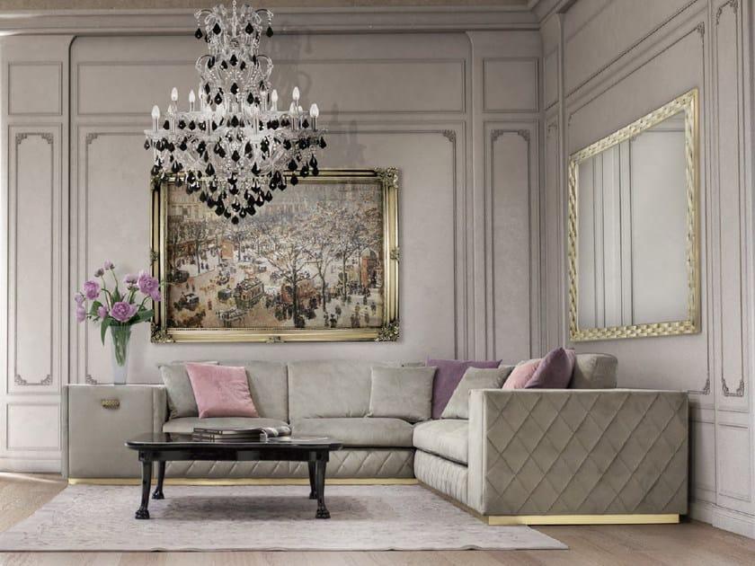 Corner sectional upholstered velvet sofa VERONA | Sofa by Formitalia