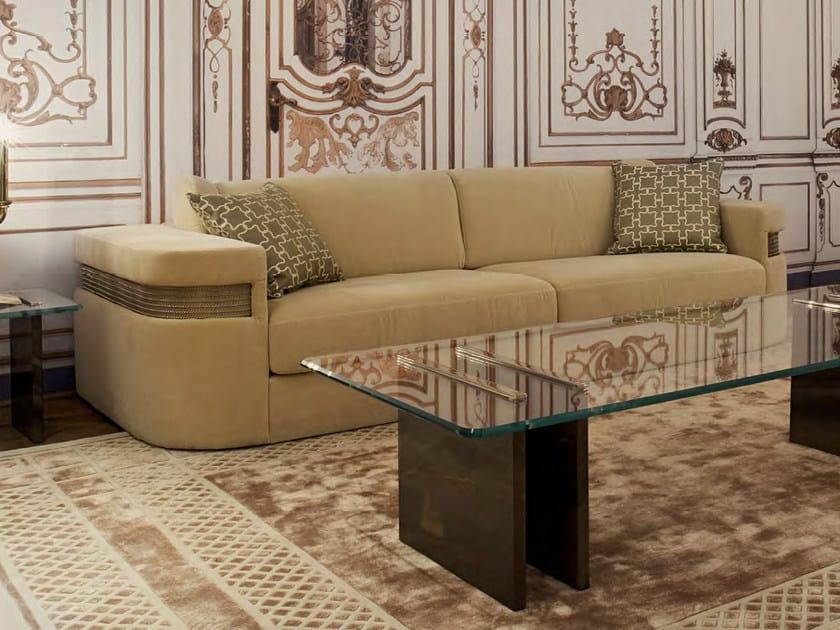 Upholstered 3 seater velvet sofa PORTALUPPI | Sofa by Formitalia