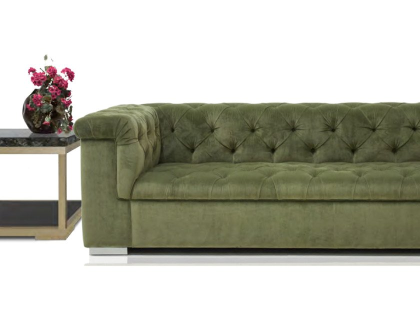Tufted upholstered 3 seater velvet sofa ROMA | Sofa by Formitalia