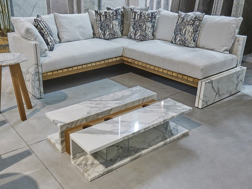 Corner marble sofa BETTOGLI | Corner sofa by FranchiUmbertoMarmi