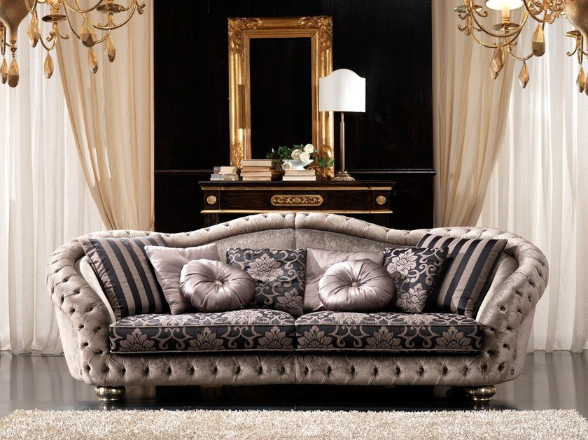 Tufted fabric sofa ADMIRAL | Sofa by Gold Confort