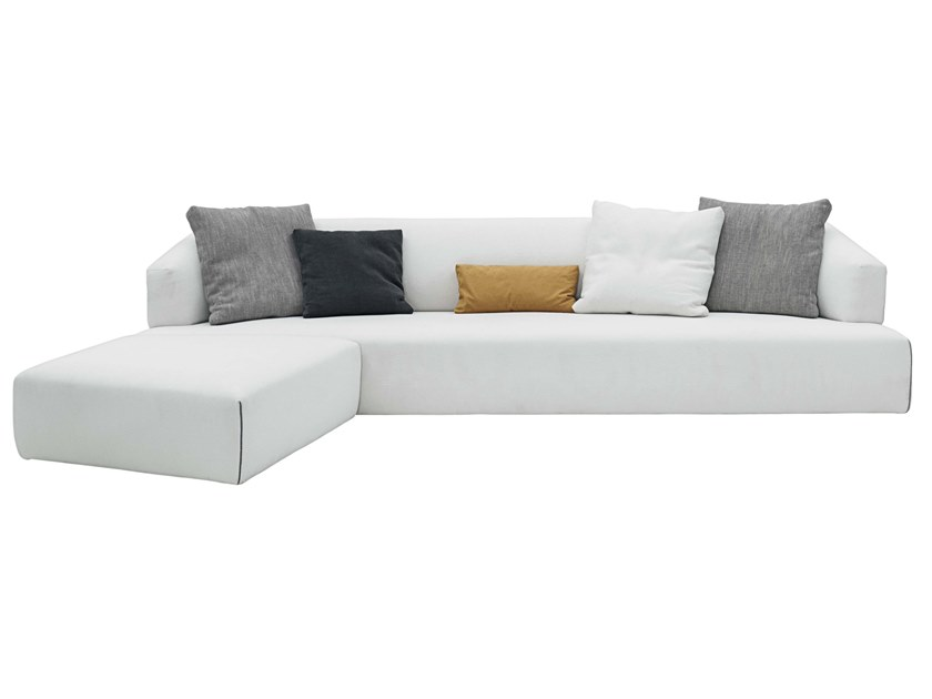 3 seater fabric sofa with chaise longue ZED by JESSE