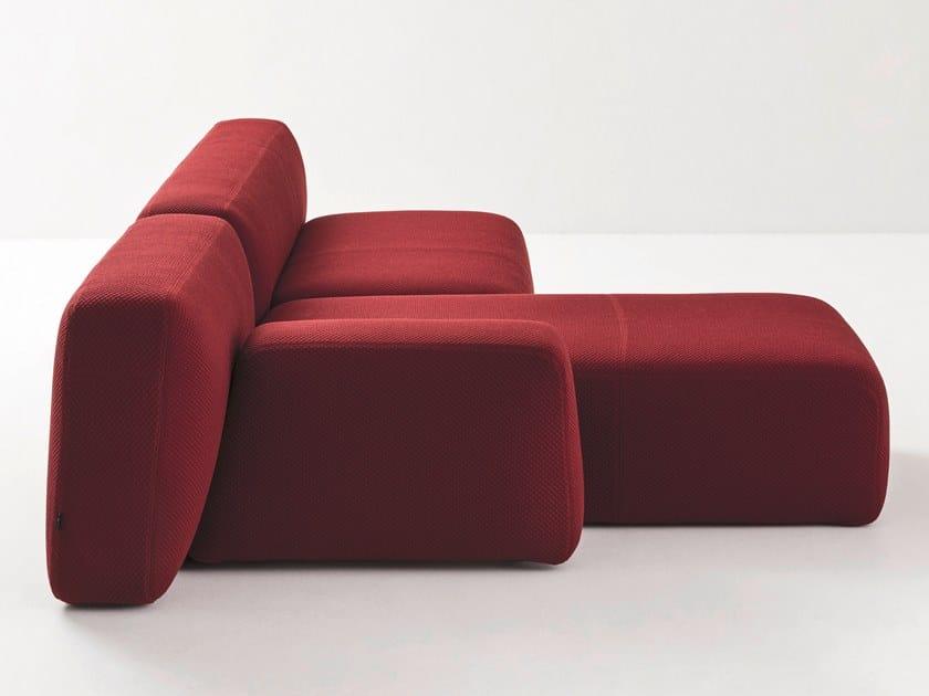 Sectional modular fabric sofa SUISEKI | Sofa by La Cividina