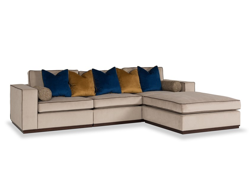 Velvet sofa with chaise longue FORTUNE | Sofa by Stylish Club