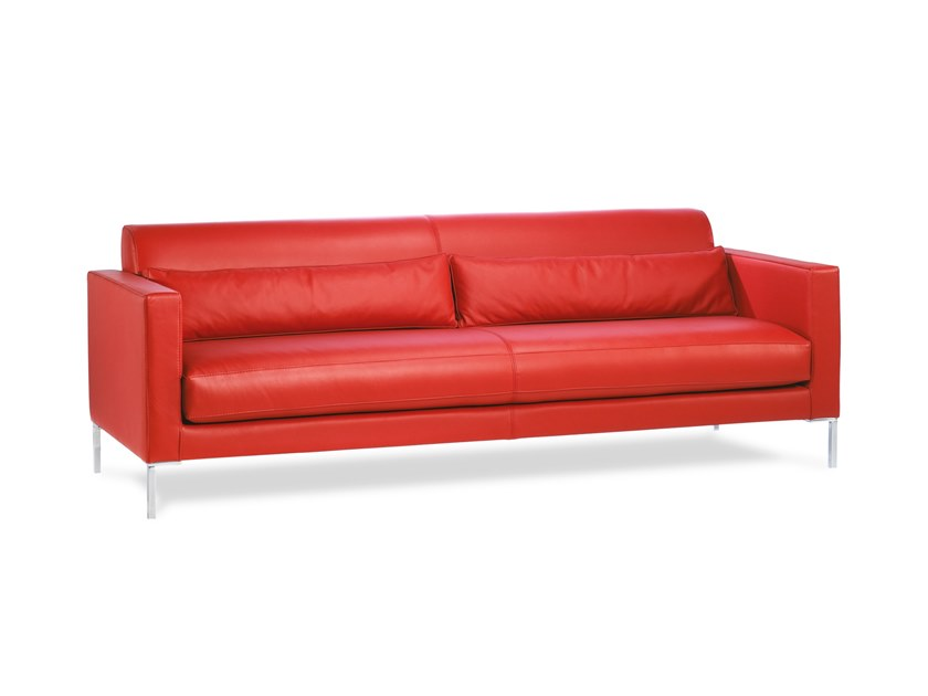 3 seater leather sofa BOSS | Sofa by Neology