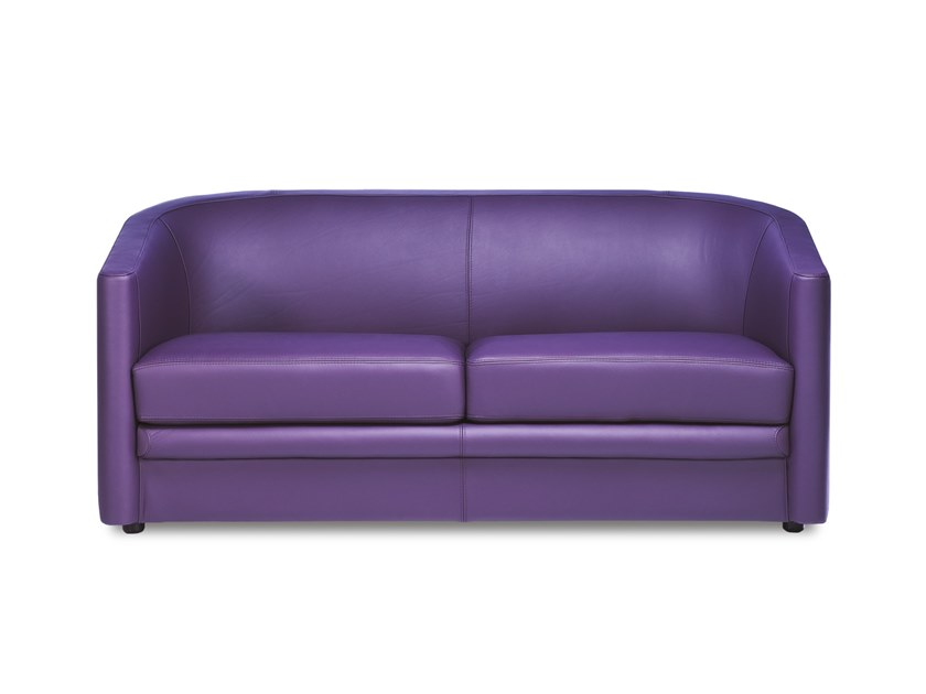 2 seater leather sofa bed MERCURE | Sofa by Neology