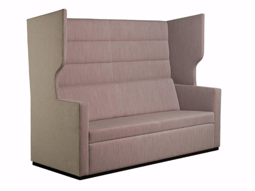 High-back fabric sofa TANK | Sofa by Palau