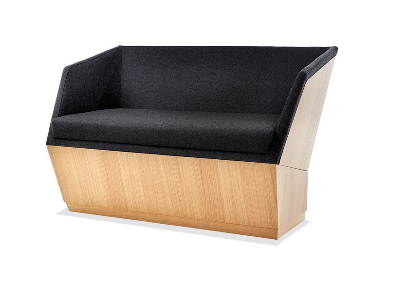 2 Seater Fabric And Wood Sofa Paloma Small By Sedex