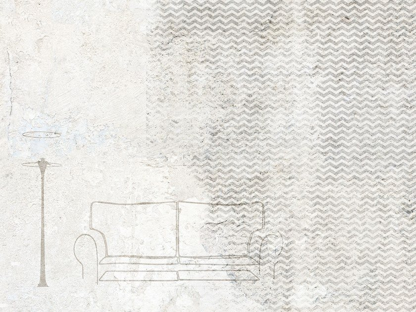 Wall effect waterproof glass-fibre wallpaper SOFA by Tecnografica Italian Wallcoverings