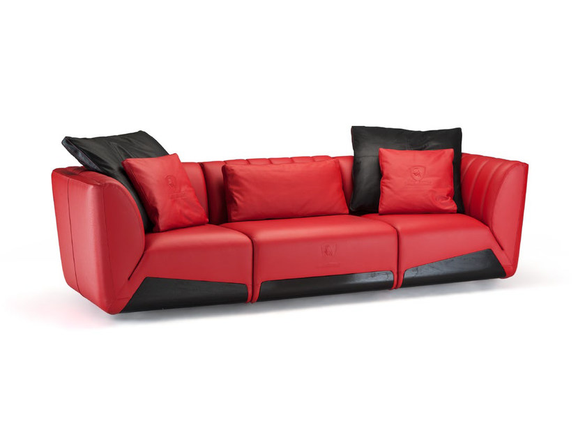 Sectional Upholstered 3 Seater Leather Sofa Sepang By Tonino Lamborghini Casa