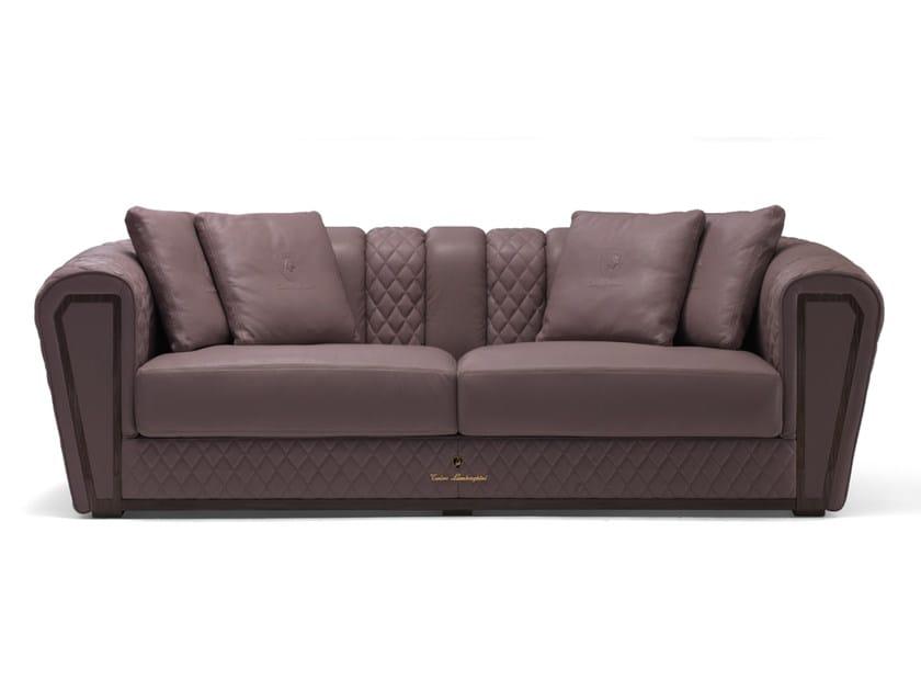 Upholstered 3 seater leather sofa RITA   Sofa by Tonino Lamborghini Casa