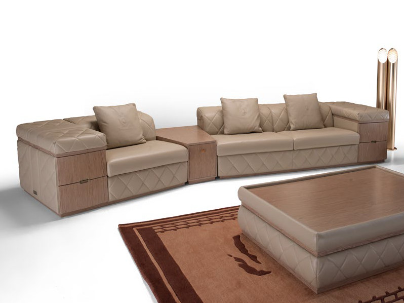 Sectional upholstered leather sofa MELBOURNE | Sofa by Tonino Lamborghini Casa