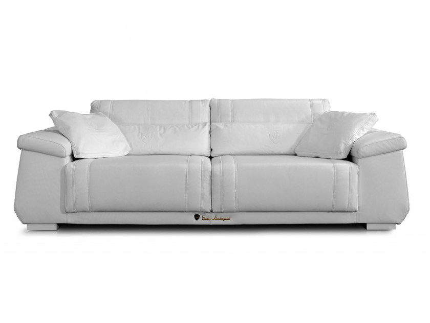 Upholstered 3 seater leather sofa BOOSTER | Sofa by Tonino Lamborghini Casa