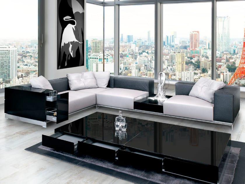 Corner sectional upholstered leather sofa PISTA   Sofa by Tonino Lamborghini Casa