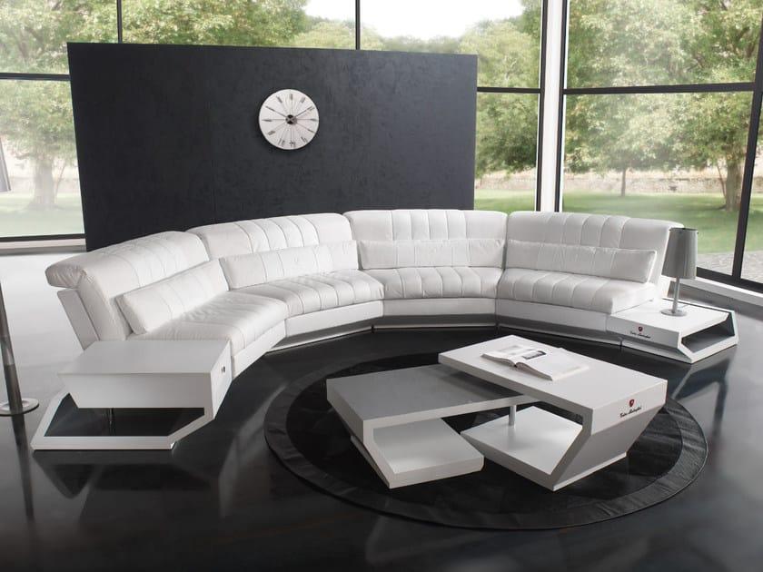 Upholstered Modular Leather Sofa Valencia By Tonino Lamborghini Casa