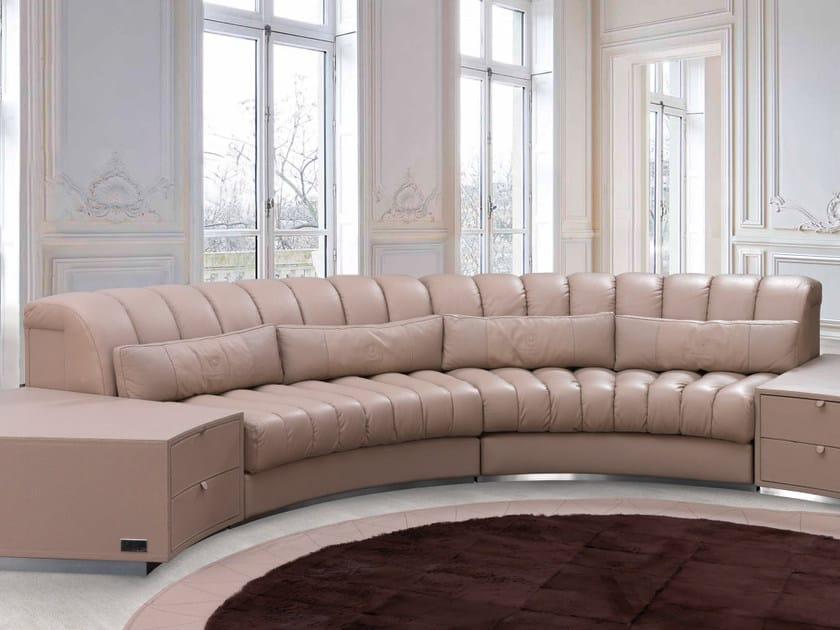 Sectional upholstered leather sofa ZOLDER | Sofa by Tonino Lamborghini Casa