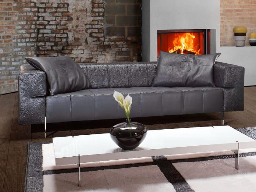 Upholstered 3 Seater Leather Sofa CORSA | Sofa By Tonino Lamborghini Casa