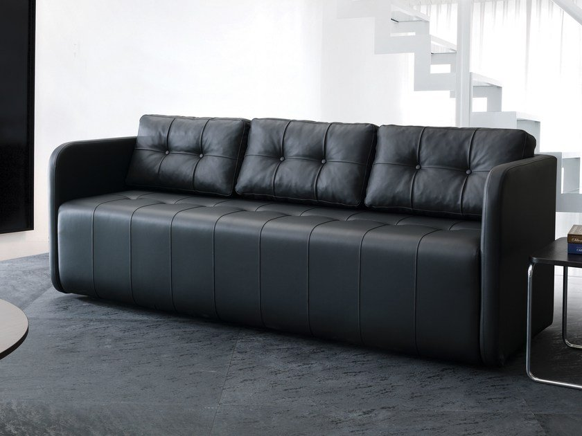 3 Seater Leather Sofa Swan By Tuna Ofis