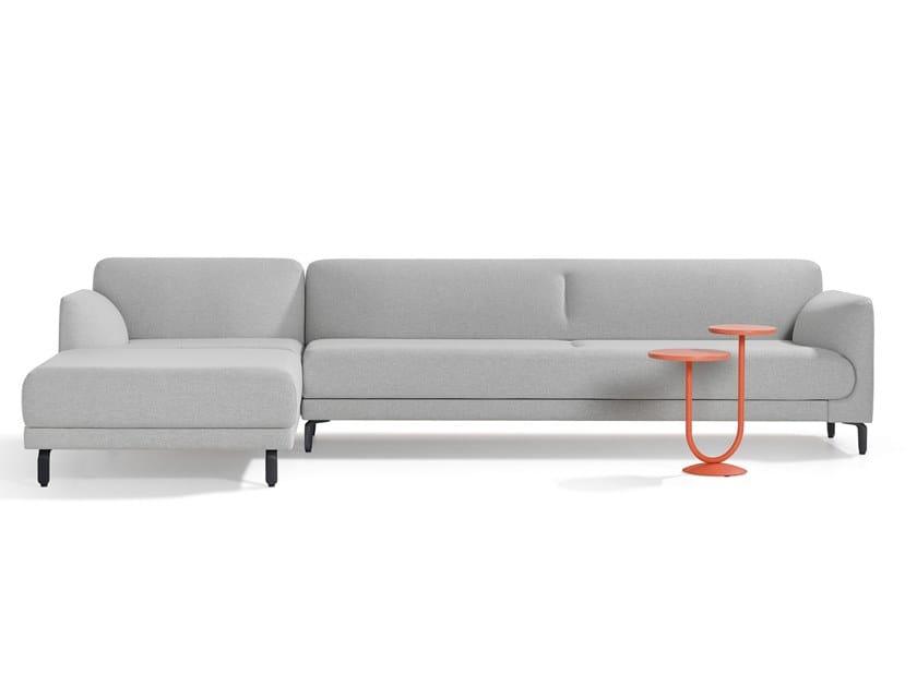 Divano in tessuto a 3 posti con chaise longue FIGURA | Divano con chaise longue by Artifort