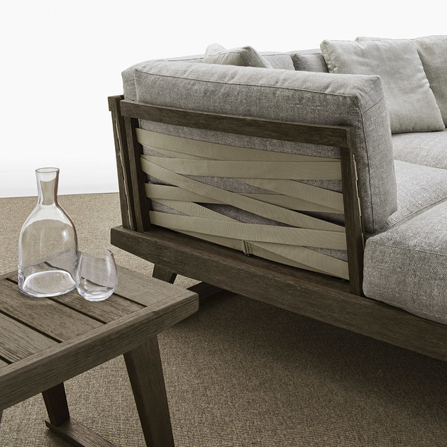 Gio sofa with chaise longue gio collection by b b italia for Chaise longue design jardin