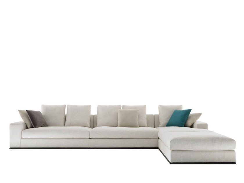 Sectional fabric sofa with chaise longue SHANGRI-LA | Sofa with chaise longue by HC28