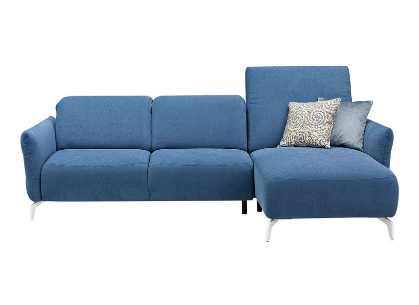 Upholstered fabric sofa with chaise longue LIVEA | Sofa with chaise longue by GAUTIER FRANCE