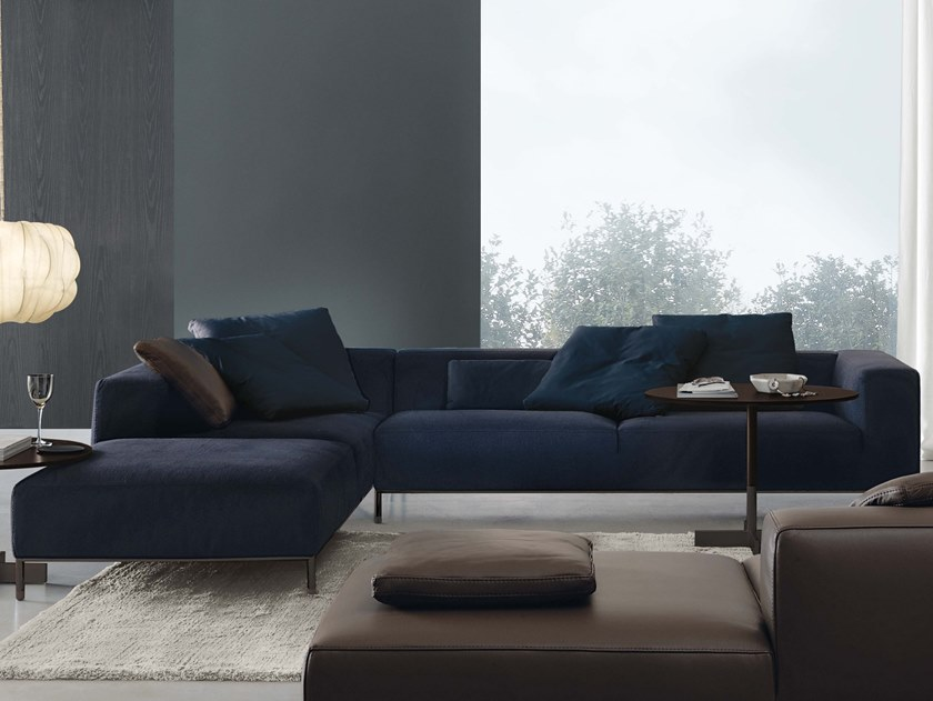 3 seater fabric sofa with chaise longue MARTIN   Sofa with chaise longue by JESSE