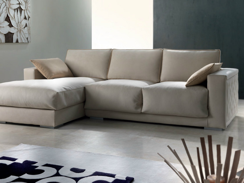Sofa with chaise longue CONTEMPORARY | Sofa with chaise longue by Modenese Gastone