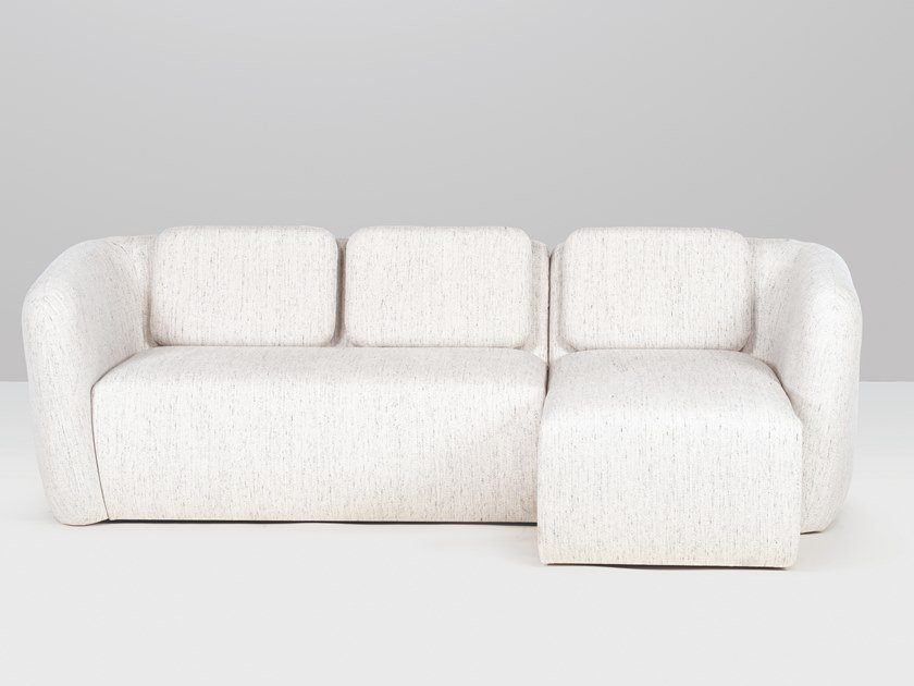 3 seater fabric sofa with chaise longue AMSTERDAM | Sofa with chaise longue by Recor Home