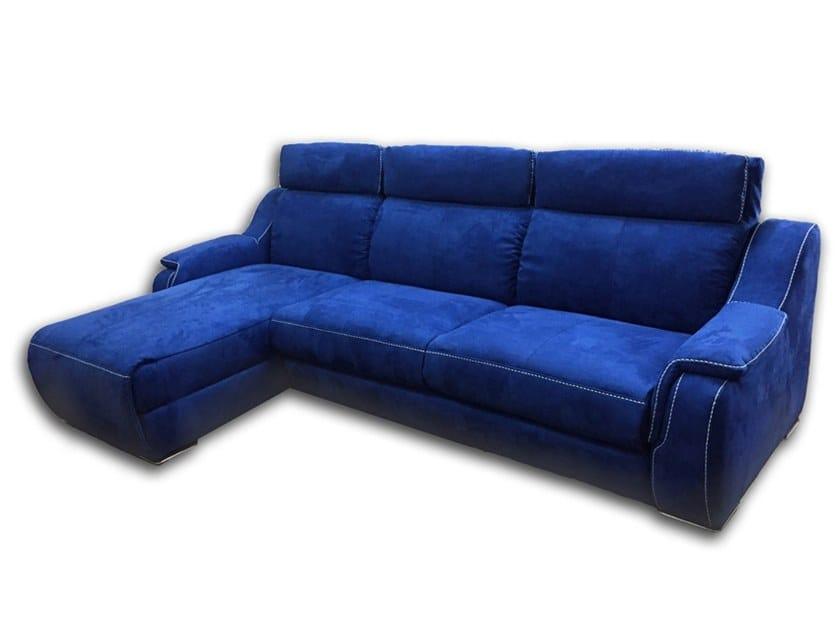 Divano in nabuk con chaise longue MEMPHIS | Divano con chaise longue ...