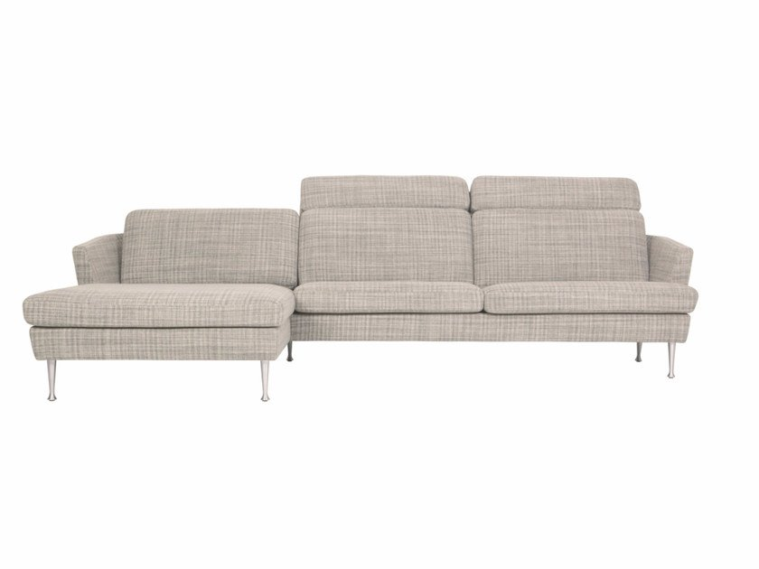 Sectional 4 seater fabric sofa with chaise longue TIMJAN   Sofa with chaise longue by SITS