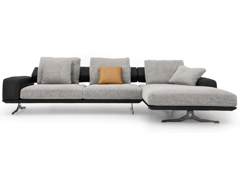 Fabric sofa with chaise longue IBIZA | Sofa with chaise longue by Tonino Lamborghini Casa