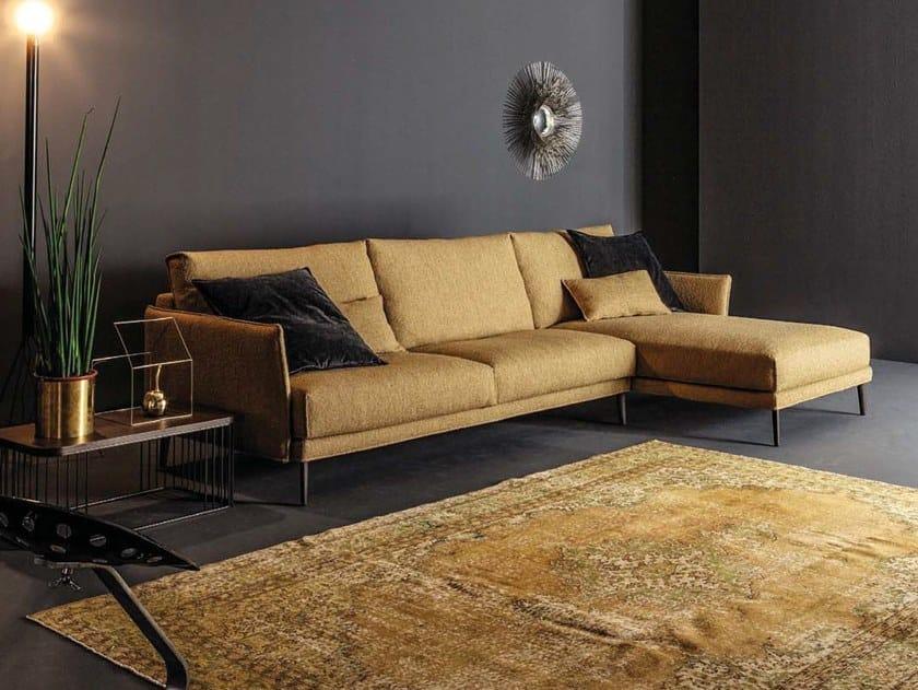 3 seater fabric sofa with chaise longue FINN   Sofa with chaise longue by Twils Lounge
