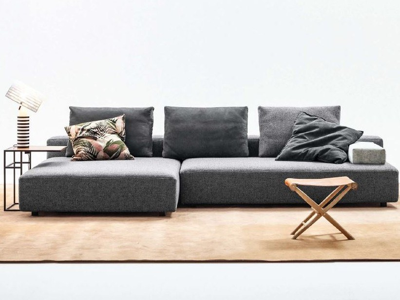 3 seater fabric sofa with chaise longue OPEN | Sofa with chaise longue by Twils Lounge