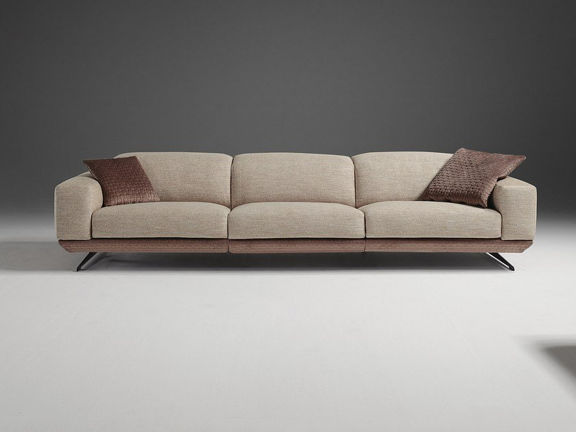 Sectional Fabric Sofa With Removable Cover Gloria By Egoitaliano