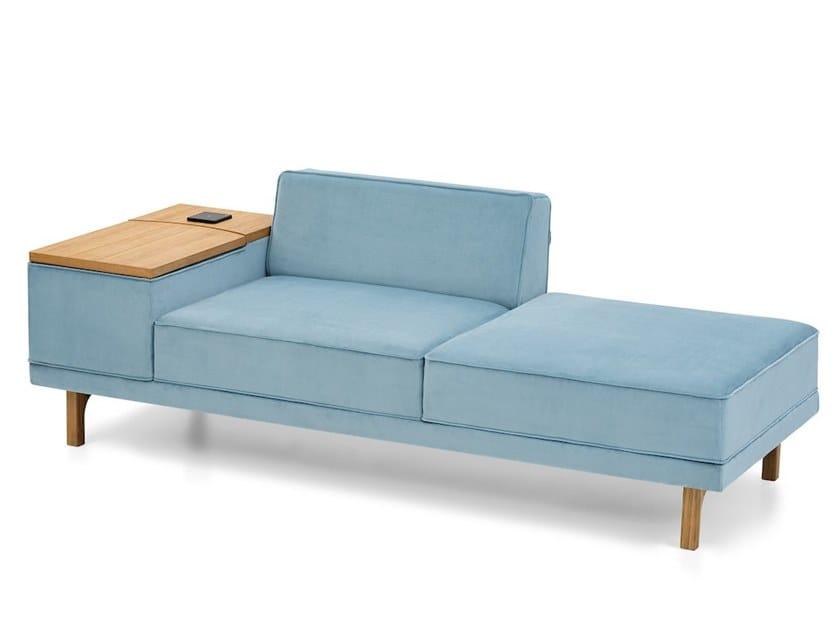 Sofá secional de tecido com armazenamento FLYTTE | Sofá com armazenamento by Extraform