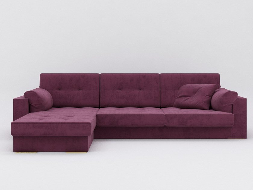 Fabric sofa with chaise longue ZULU | Sofa by ZALABA Design