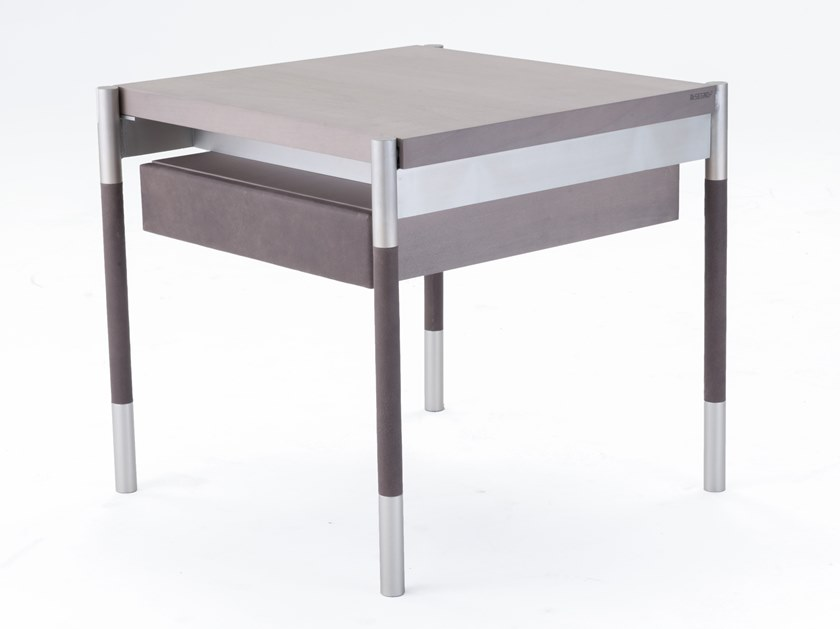 Square coffee table with storage space SOFFIO by Disegnopiù