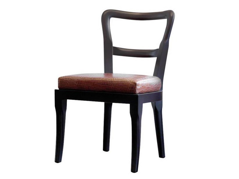 Upholstered open back leather chair SOFIA | Chair by Promemoria
