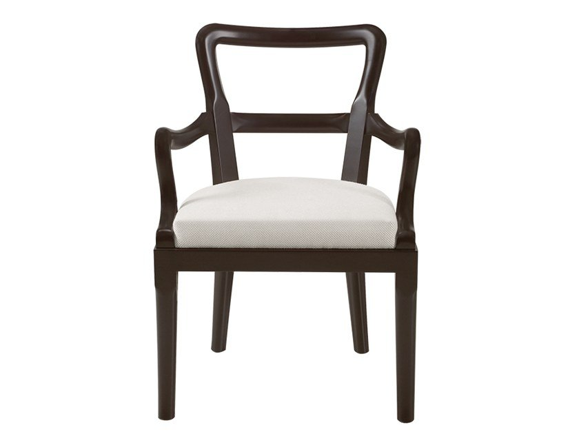 Upholstered fabric chair with armrests SOFIA | Chair with armrests by Promemoria