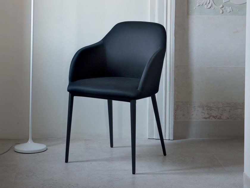 Fabric chair with armrests SOFIA | Chair with armrests by RIFLESSI