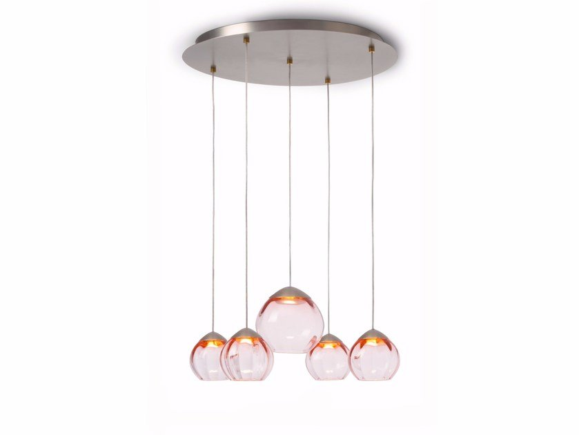 LED glass pendant lamp SOFT 59005 | Pendant lamp by ALMA LIGHT