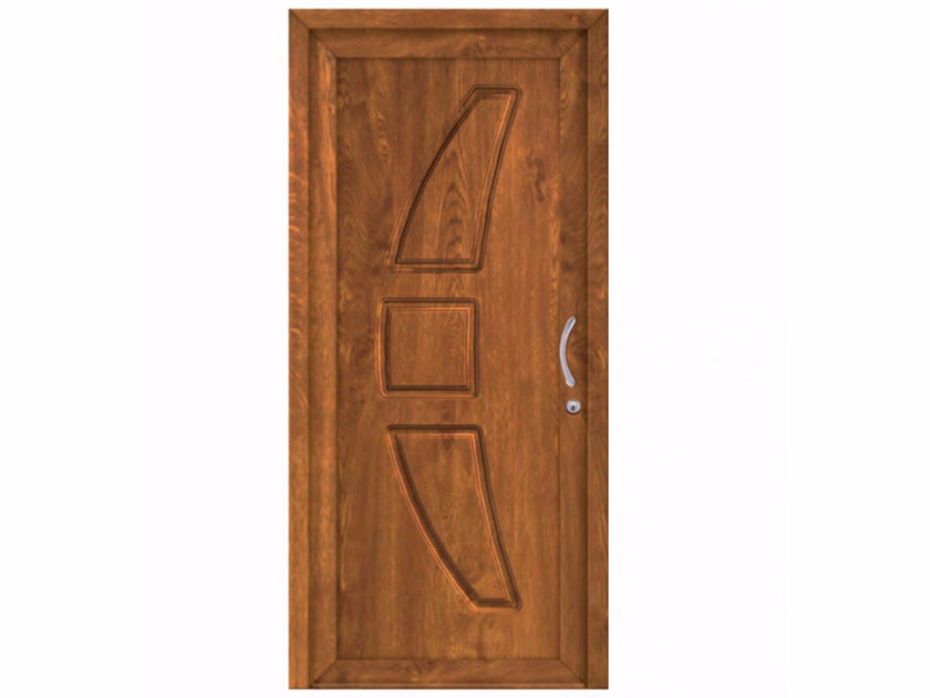 Exterior custom PVC entry door SOFT ALICANTE by FOSSATI PVC
