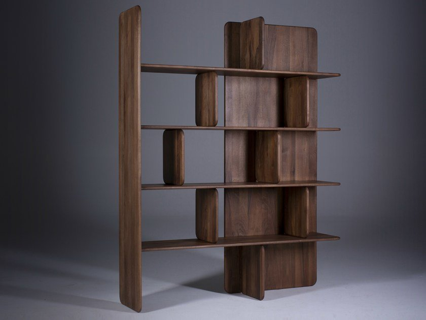 Open solid wood bookcase SOFT by Artisan